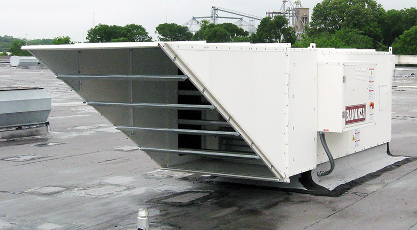 Direct Fired Rooftop Air Handler